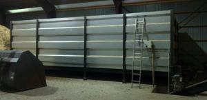 silo med hydraulisk skrapbotten